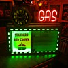 1930's-1940's Neon Sign with Hexagon Neon Cleveland Clock and Neon Gas Letters