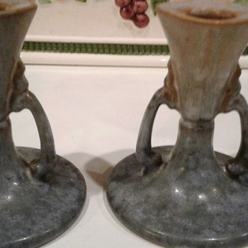 Roseville Earlam Candlesticks