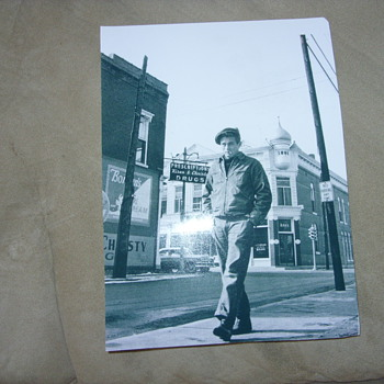 james dean taking a walk down his home town - Posters and Prints