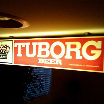 Tuborg Beer lighted sign..repost - Breweriana