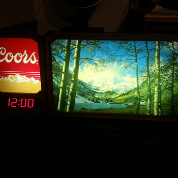 Vintage Coors Sign with digital clock - Breweriana