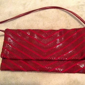 Old clutch handbag, designers name inside partly rubbed off, help! - Bags