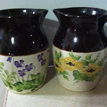 Robinson Randbottom hand painted pitchers