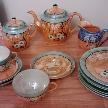 "Vintage Lusterware rare ""mint"" & peach - Asian"