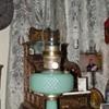 Aladdin Moonstone Quilt Jadeite Oil Lamp...1930's