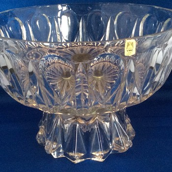 Large vintage French glass centrepiece