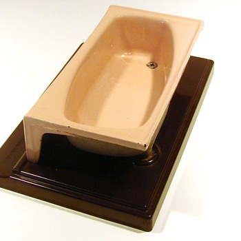Salesman Sample of Contour Tub - Advertising