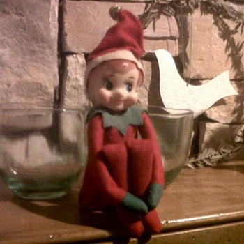 Vintage 1960's knee-hugger elf  - Christmas