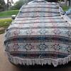 Large Vintage Wool Handmade  Native American Blanket Or Rug