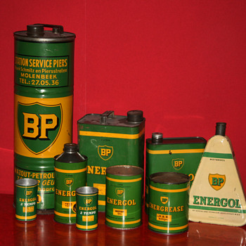 BP oil cans collection