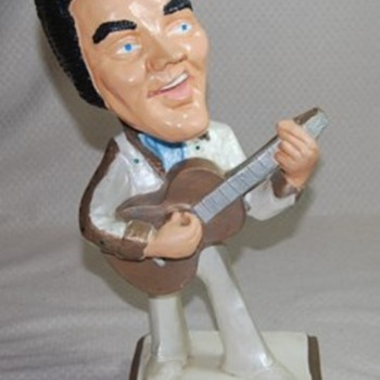 Elvis Presley Chalkware Statue (square base) - Music