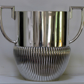 1900-05 Berlin Secessionist Style Silver Champagne Cooler