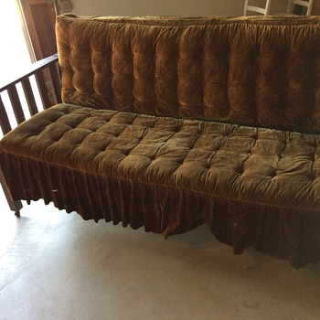Mission style sofa/bed