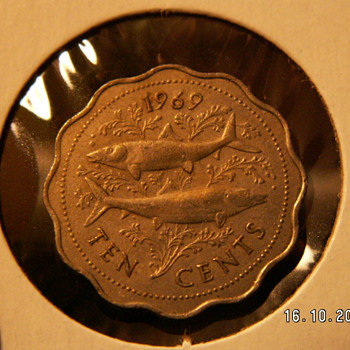 1969 Bahama Islands 10 cents - World Coins