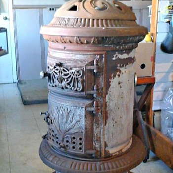 Just Aquired 1888 Sherman Jewett Oak Parlor Stove