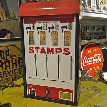 Old 25 Cent Stamp Machine - Stamps
