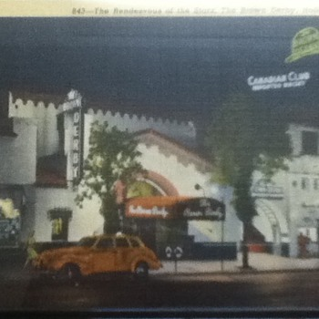 The Hollywood Brown Derby Postcard
