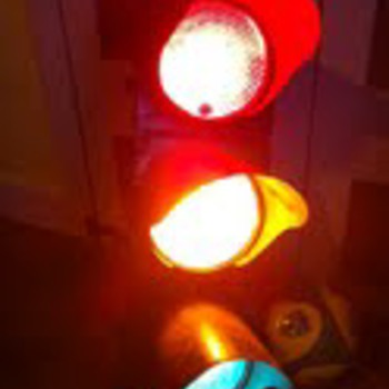 Antique traffic light