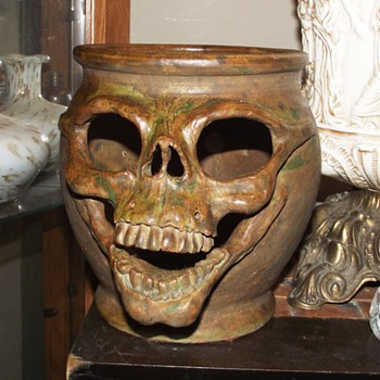 Skull Pottery by The Hairless Potter and Billy Buddah (same artist)