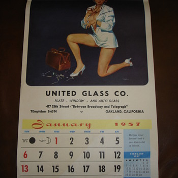 1957 PINUP CALENDAR
