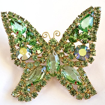 My first BUTTERFLY Brooch Pin & This One Signed KRAMER - Costume Jewelry