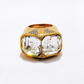 Vintage Alexis Kirk Art Deco Chunky Ring - Costume Jewelry