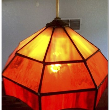 Red Stained Glass Bar Pendants - Lamps