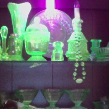 Some of My Uranium Pieces - Glassware