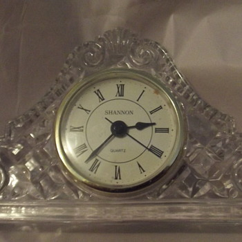 Shannon Crystal Mantel Clock - Glassware