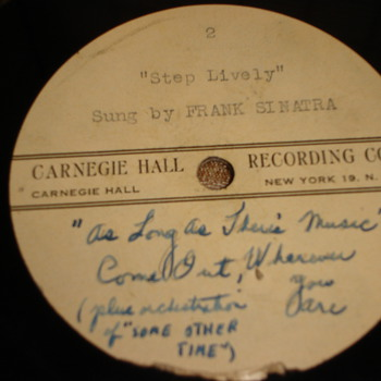 Carnegie Hall Recording Co. - Music Memorabilia
