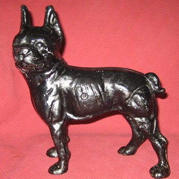 "Vintage ""Left Facing"" Boston Bull Terrier Doorstop - Tools and Hardware"
