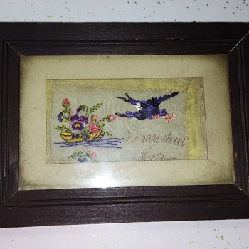 Rare WW1 hand stiching made by a war orphan - Military and Wartime