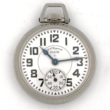 Elgin B.W. Raymond 21 Jewel 9 Adjustments Pocket Watch - Pocket Watches