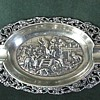 Dutch Sterling ~ Repousse &amp; Ajoure &#039;Ash Tray&#039; 1911