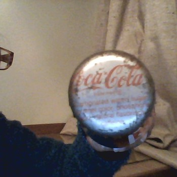 Coca Cola 10 FL oz glass bottle