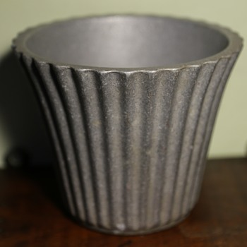 Mid-century Aluminum Flower Pot - Mid-Century Modern