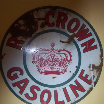 red crown gasoline sign - Petroliana