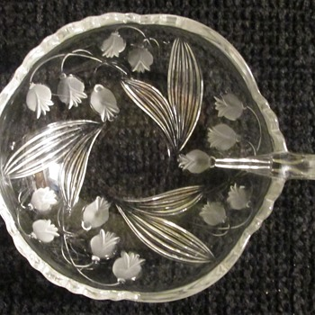 Lily of the Valley glass dish - Glassware