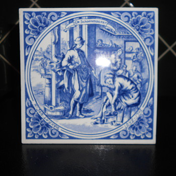Dutch Decorative Tile - Art Pottery