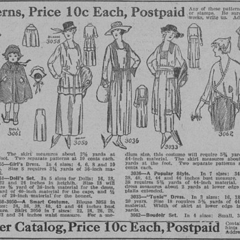 1919 - Dakota Farmer Sewing Patterns Advertisement - Advertising
