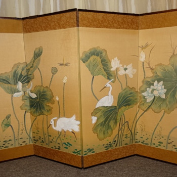 Japanese (?) 4 panel wall/ screen  - Asian