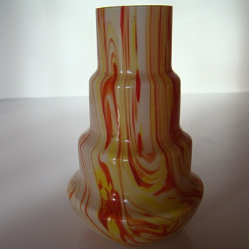 Gebruder Funk & Co stepped vase - Art Glass