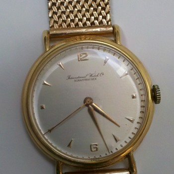 IWC Schauffhausen 18K Gold Vintage watch