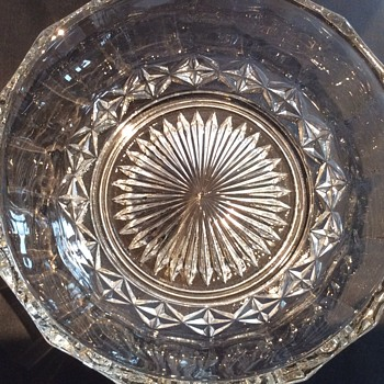 23cm x 8cm glass bowl