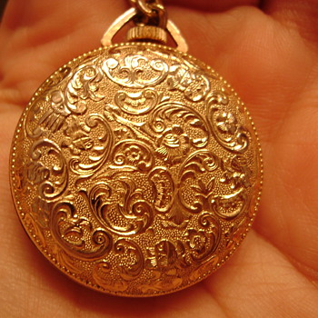 Gold Pocket Watch with Floral Design - Pocket Watches
