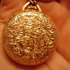 Gold Pocket Watch with Floral Design