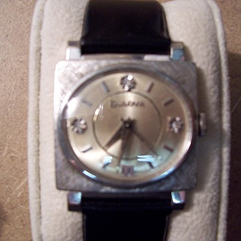 1960's Bulova TV Screen Style Mens Watch - Wristwatches