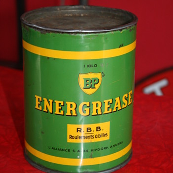 BP grease can - Petroliana
