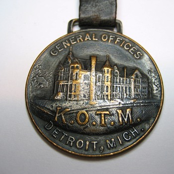 Knights Of The Maccabees Pocket Watch Fob - Pocket Watches