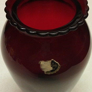 Anchor Hocking Red Vase